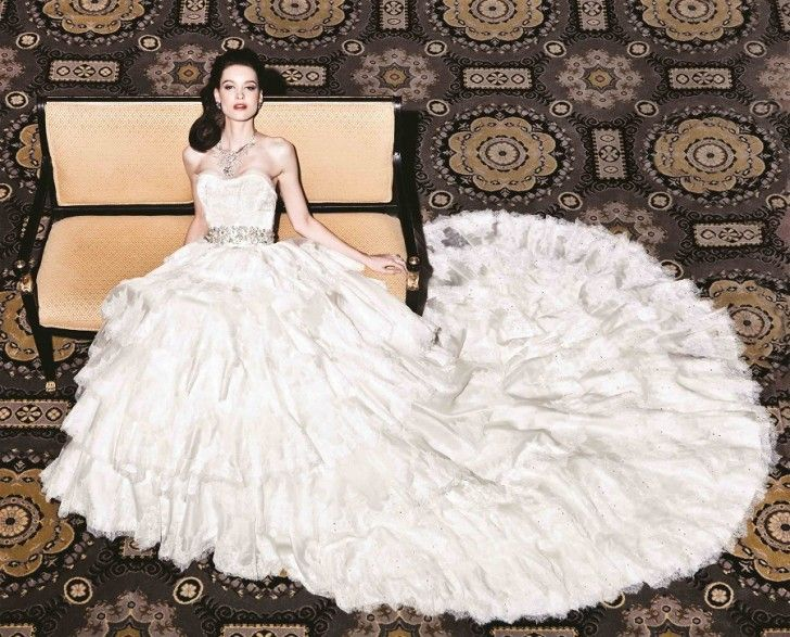 Yumi Katsura White Gold Wedding Dress