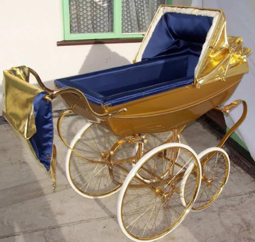 Gold Plated Pram