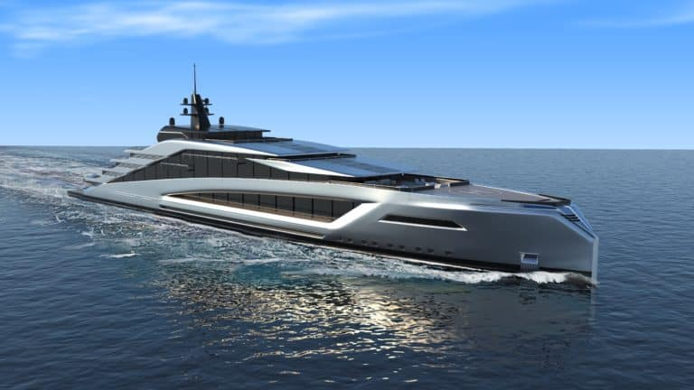 California is the new 135 meter mega yacht concept from Kurt Strand