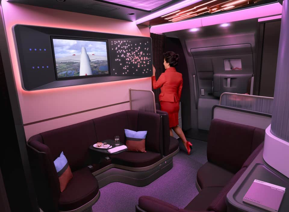 Virgin Atlantic has new cabin designs for its Airbus A350-1000 fleet