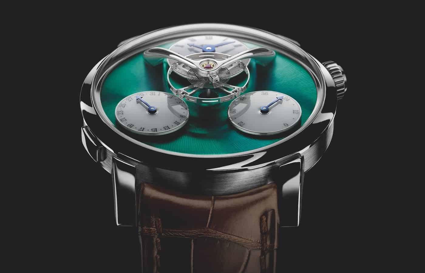 MB&F Legacy Machine Split Escapement Titanium Green Watch 1