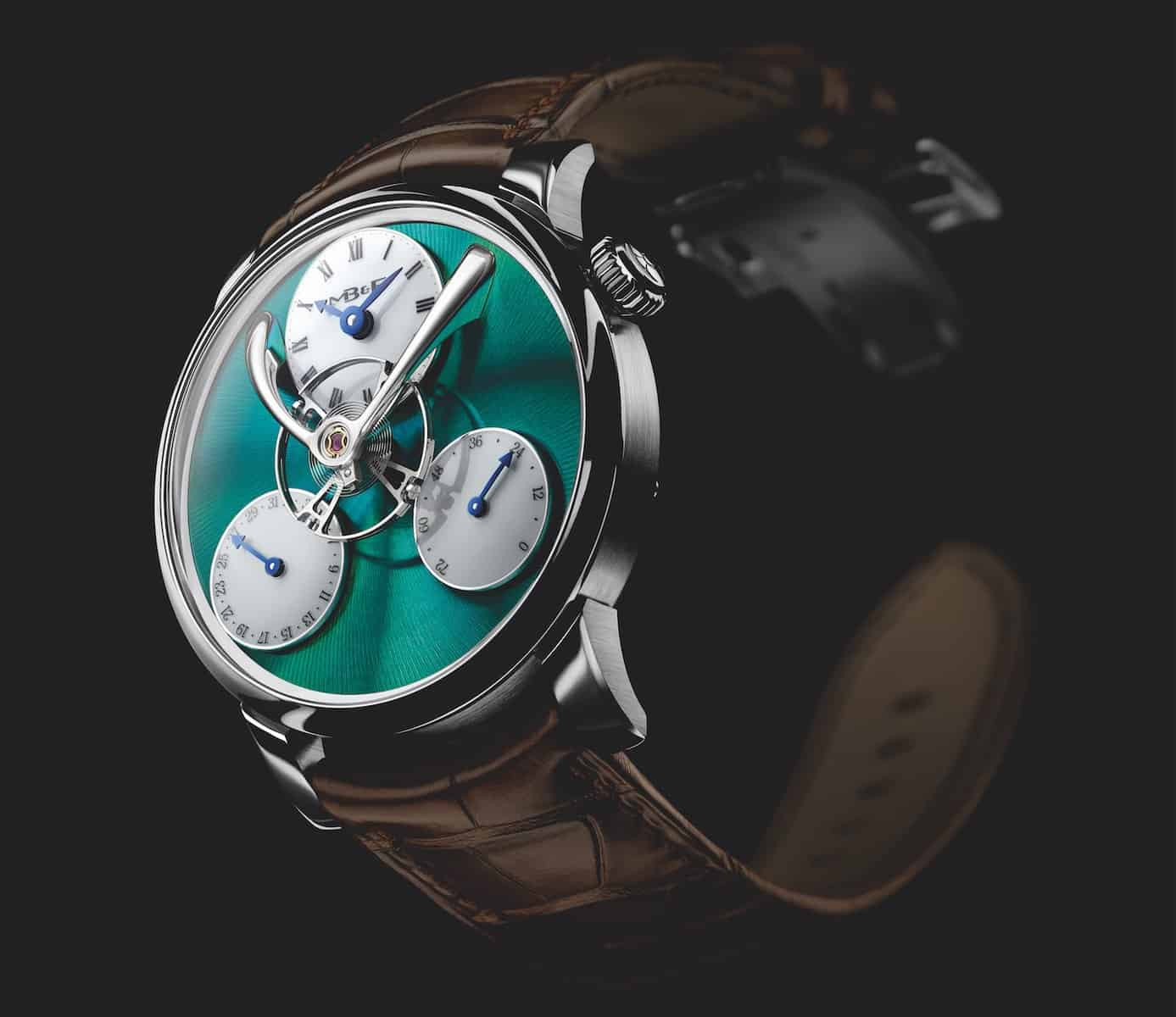 MB&F Legacy Machine Split Escapement Titanium Green Watch 3