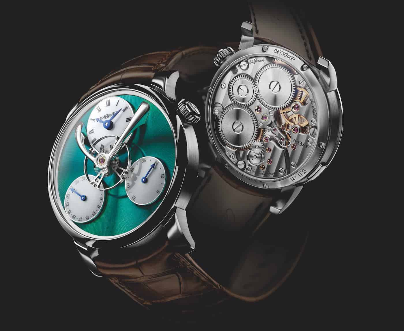 MB&F Legacy Machine Split Escapement Titanium Green Watch 4