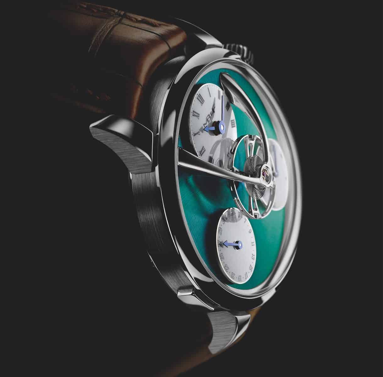 MB&F Legacy Machine Split Escapement Titanium Green Watch 5