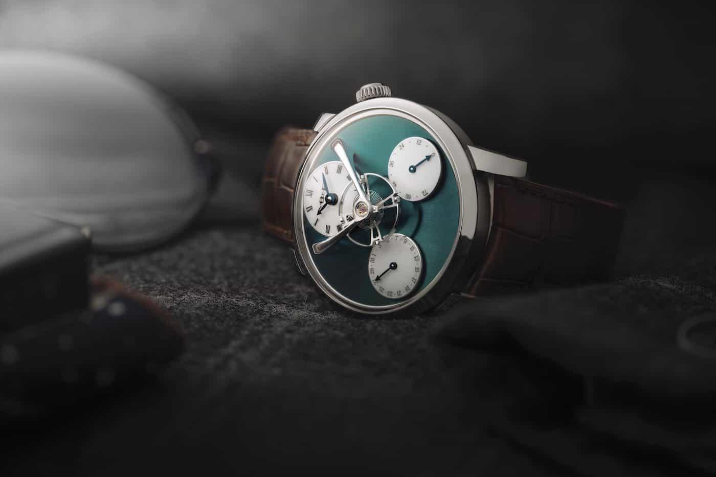 MB&F Legacy Machine Split Escapement Titanium Green Watch 6
