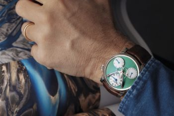 MB&F Legacy Machine Split Escapement Titanium Green Watch 8