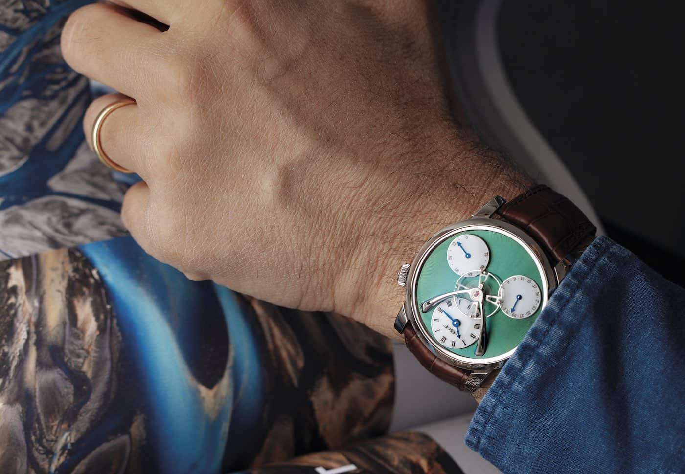 MB&F Legacy Machine Split Escapement Titanium Green Watch 8
