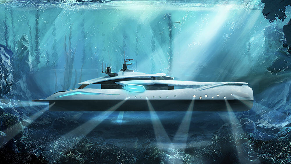 The Hypnosquid is a Jaw-dropping 207-Foot Superyacht Concept Inspired by a Cuttlefish
