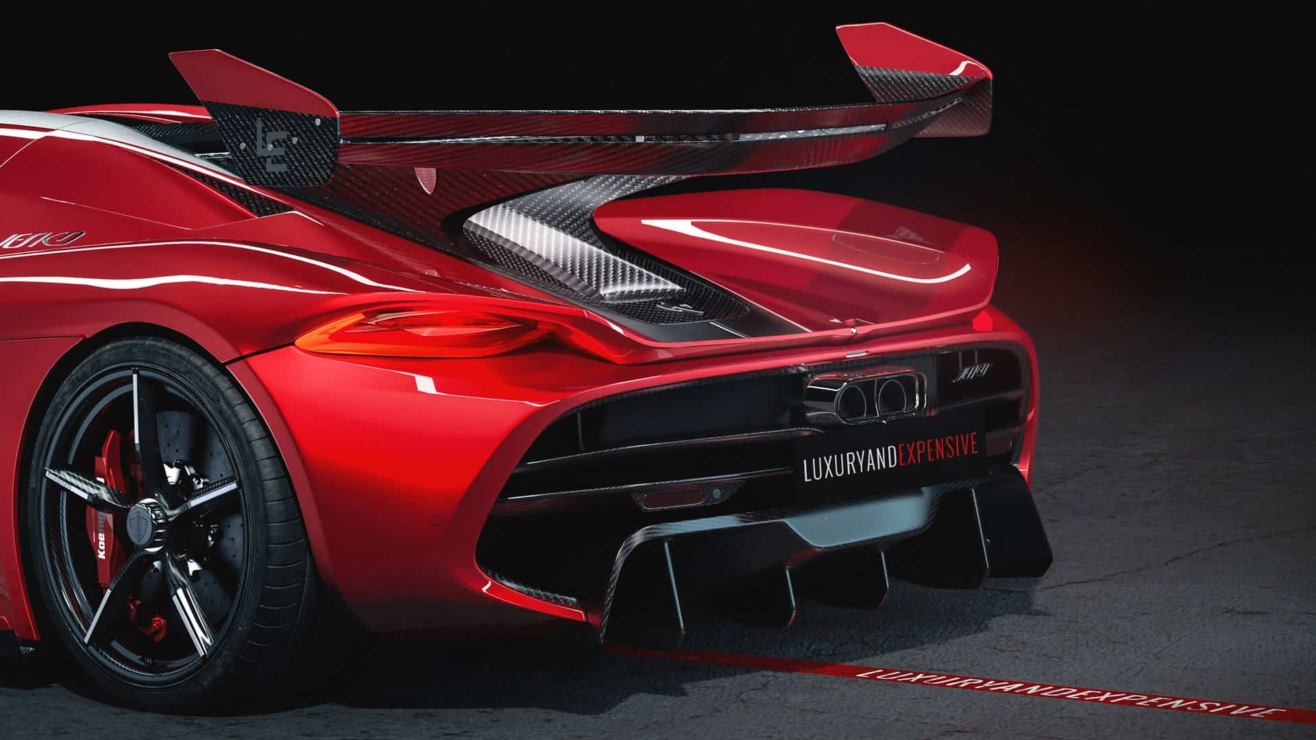 Koenigsegg Jesko Cherry Red Edition 10 11