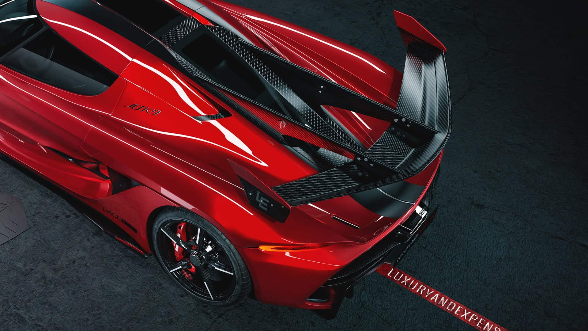 Koenigsegg Jesko Cherry Red Edition 10 12