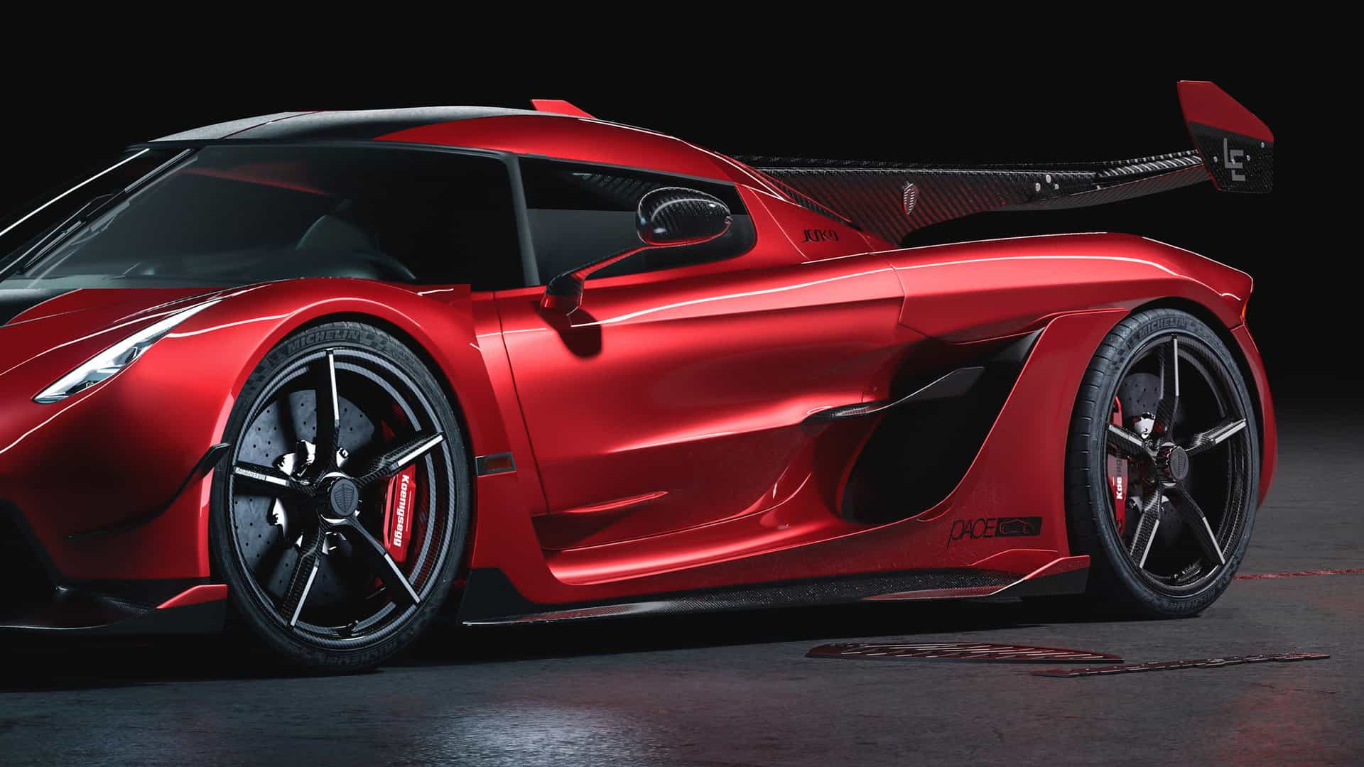 Koenigsegg Jesko Cherry Red Edition 10 13