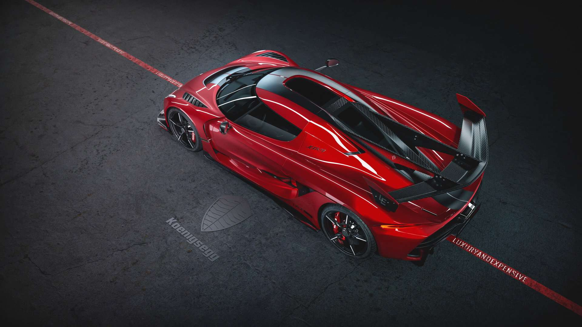 Koenigsegg Jesko Cherry Red Edition 10 5