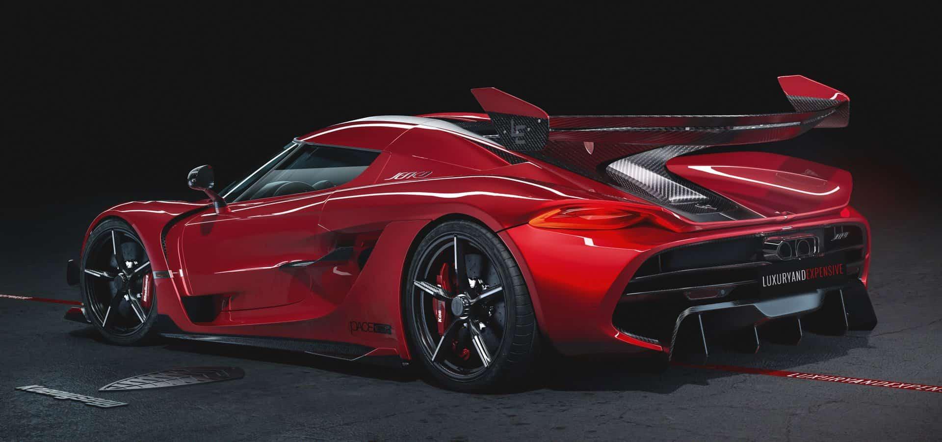 Koenigsegg Jesko Cherry Red Edition 10 7