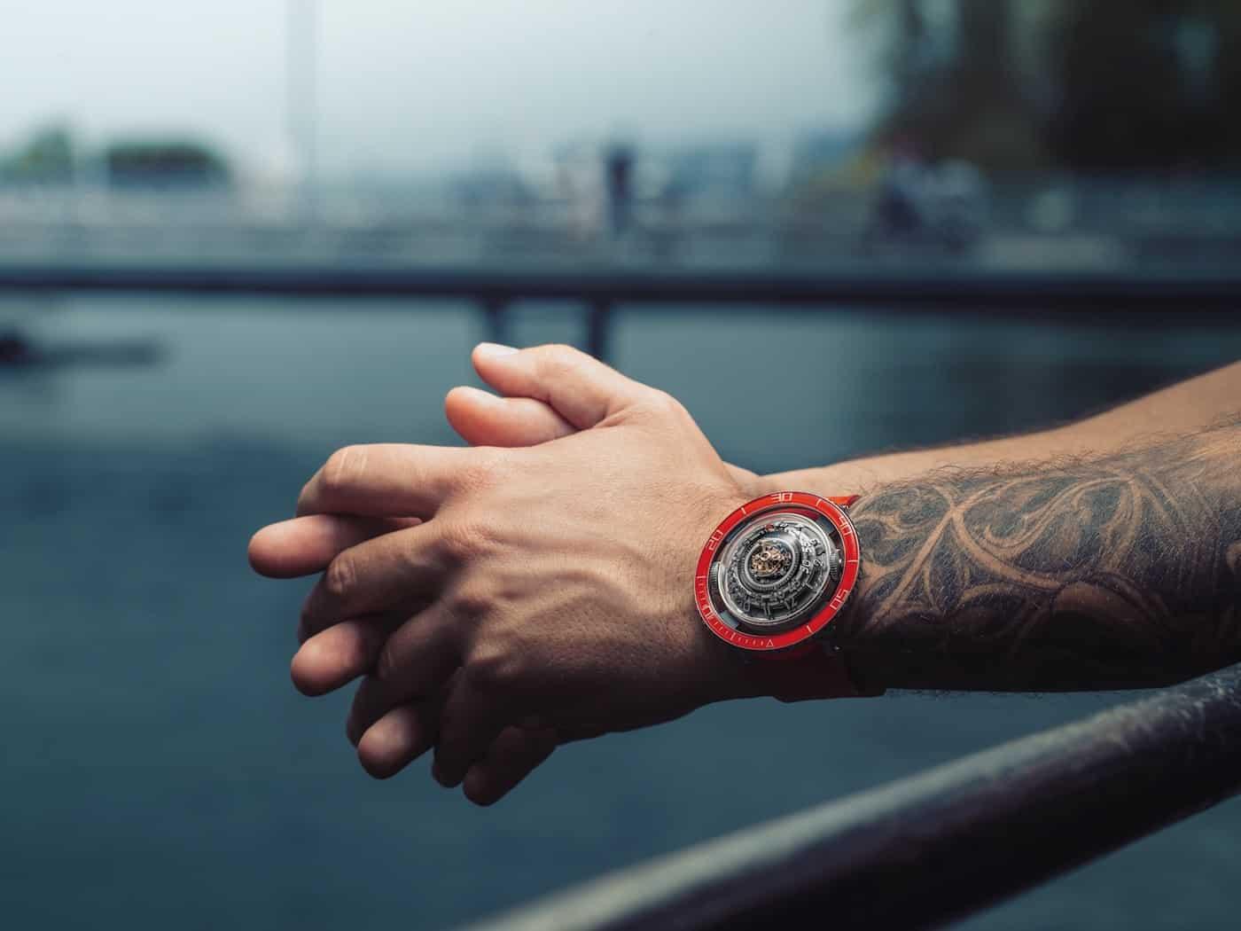 MBF HM7 Aquapod Platinum Red Watch 1