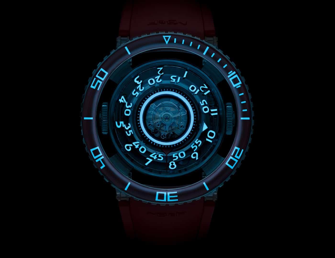 MBF HM7 Aquapod Platinum Red Watch 10