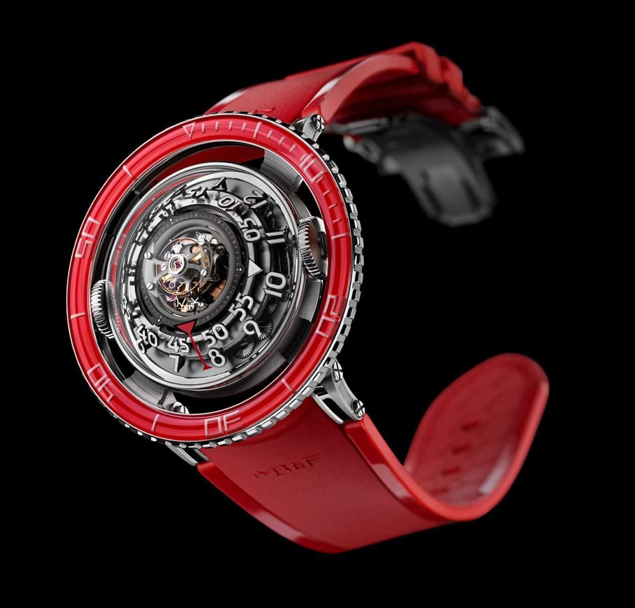 MBF HM7 Aquapod Platinum Red Watch 6