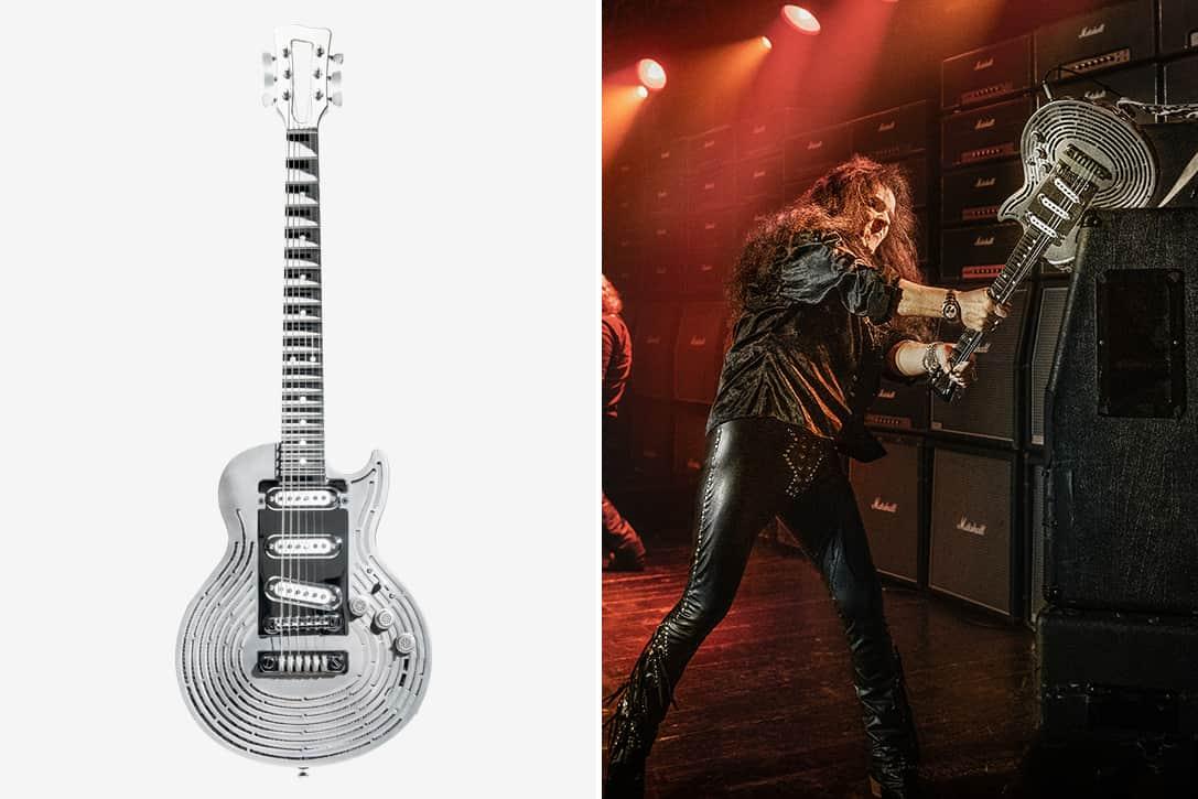 Sandvik 3D Printed Smash Proof Titanium Guitar 1