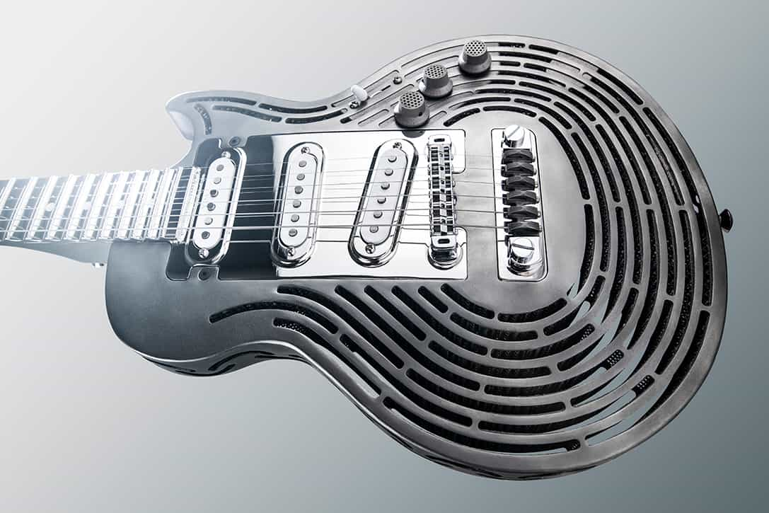 Sandvik 3D Printed Smash Proof Titanium Guitar 2