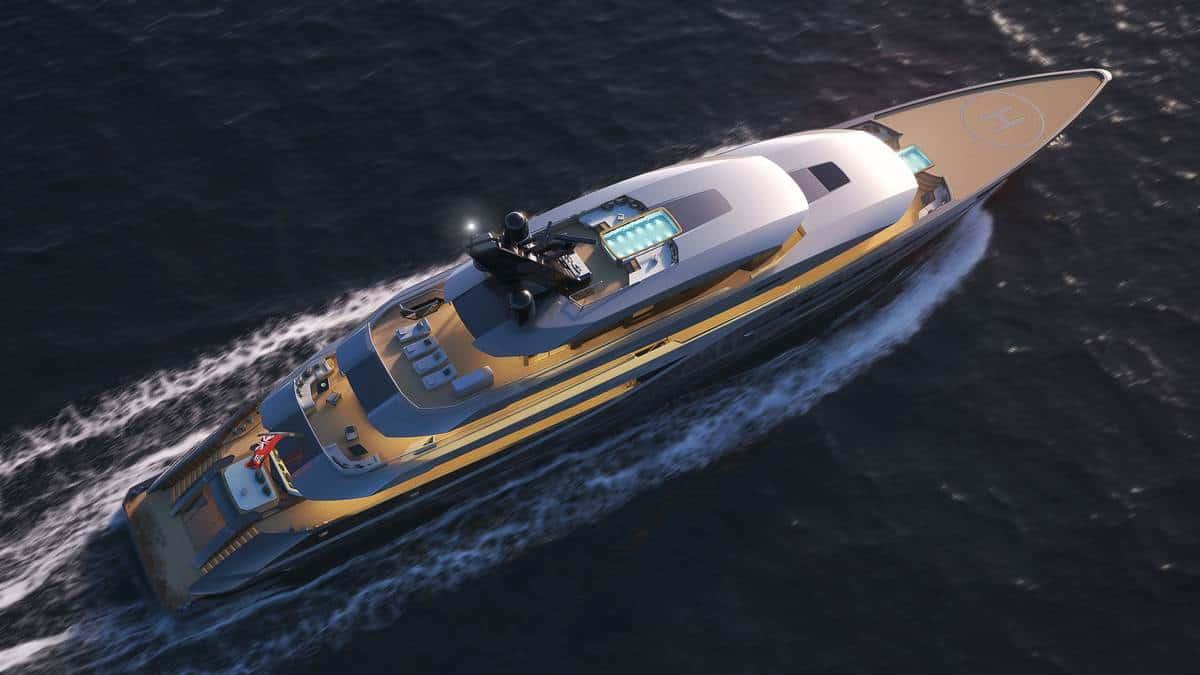 Italian Yacht Designer Marco Ferrari unveiled the 77m Atlantico
