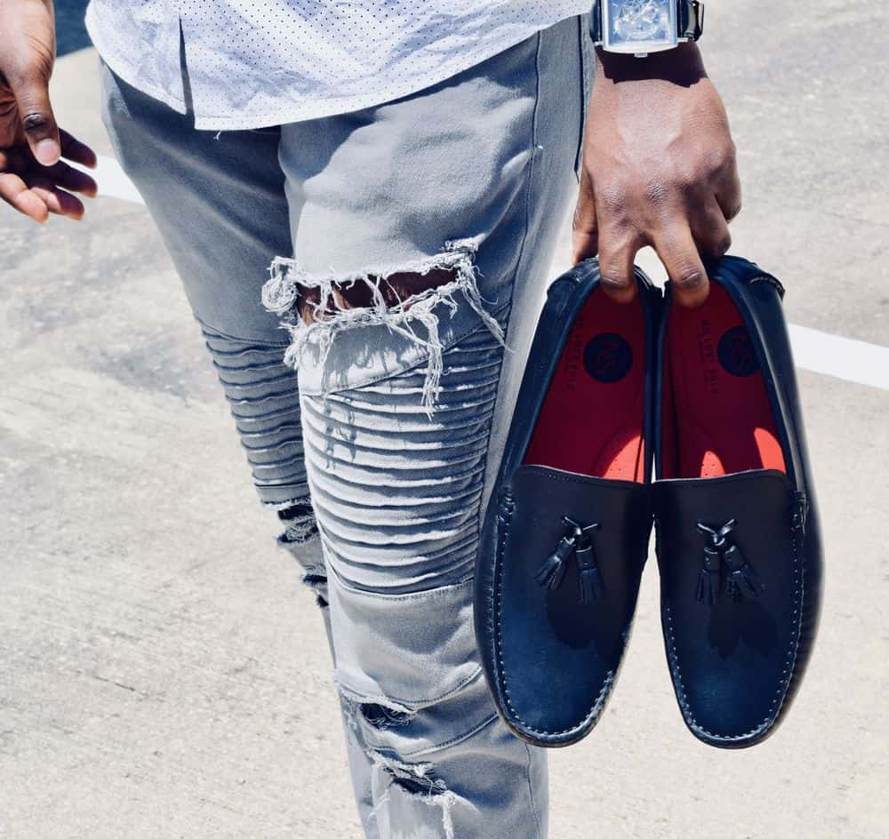 loafers and jeans