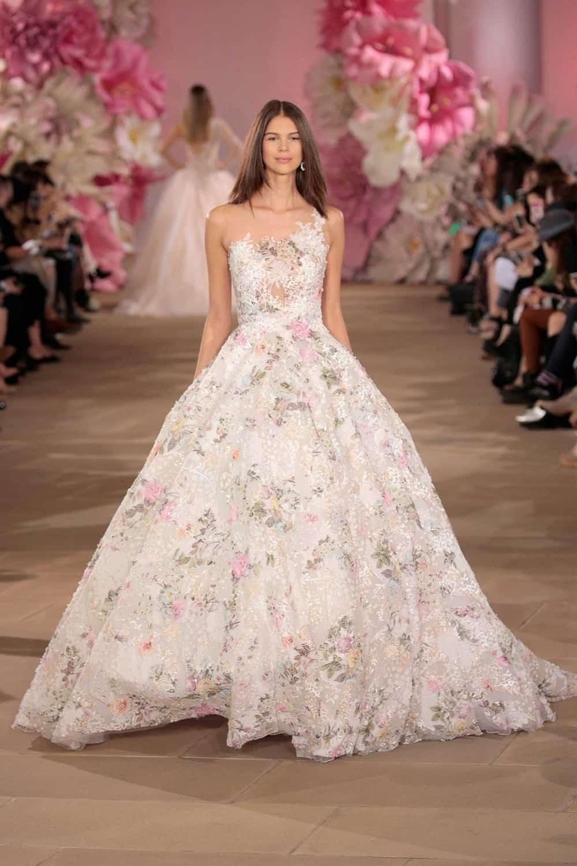 Floral Print wedding dress