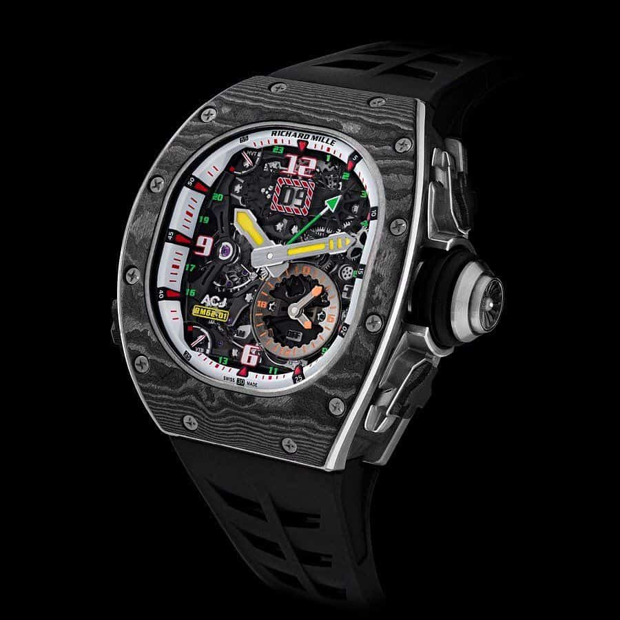 Richard Mille's RM 62-01 Tourbillon Vibrating Alarm ACJ is the Travel Watch You Always Wanted