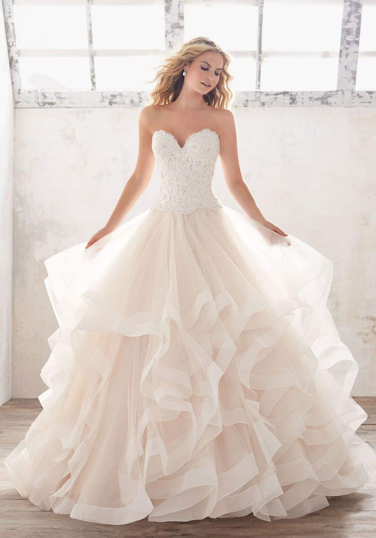 Ruffleswedding dress