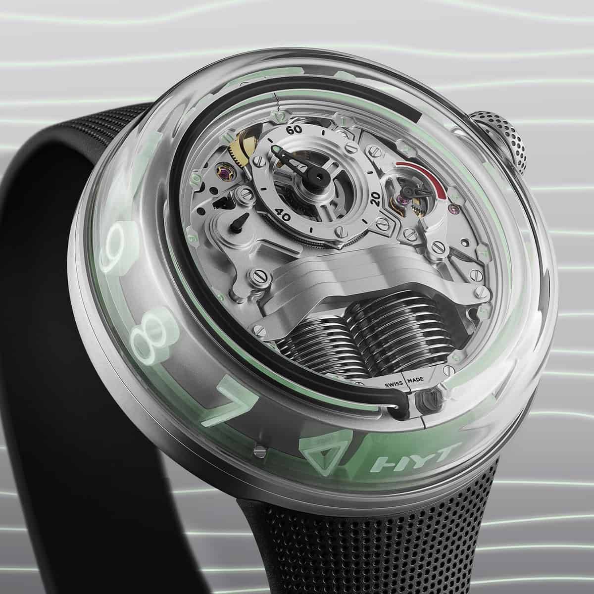 The new HYT H5 Brings a new Movement and Concept of Time