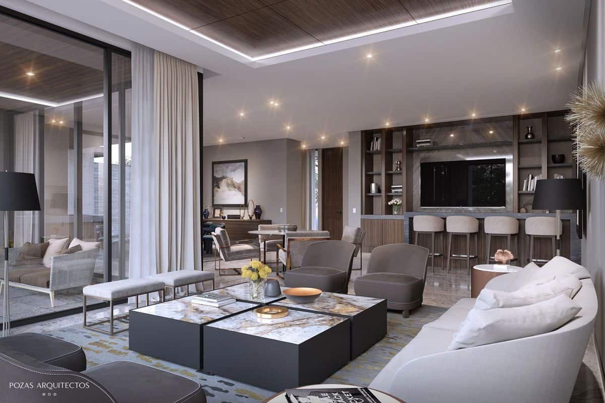 luxury living room bar