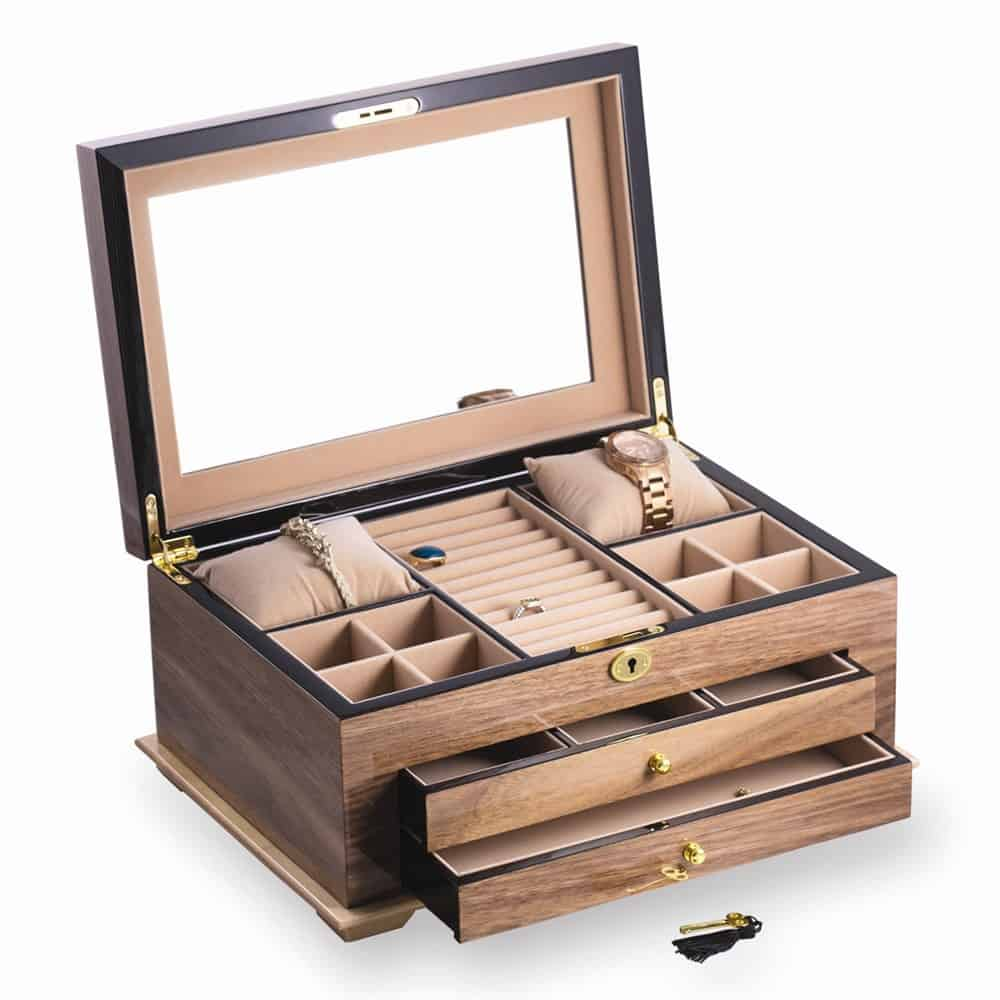 Charlton Home Jewelry Box