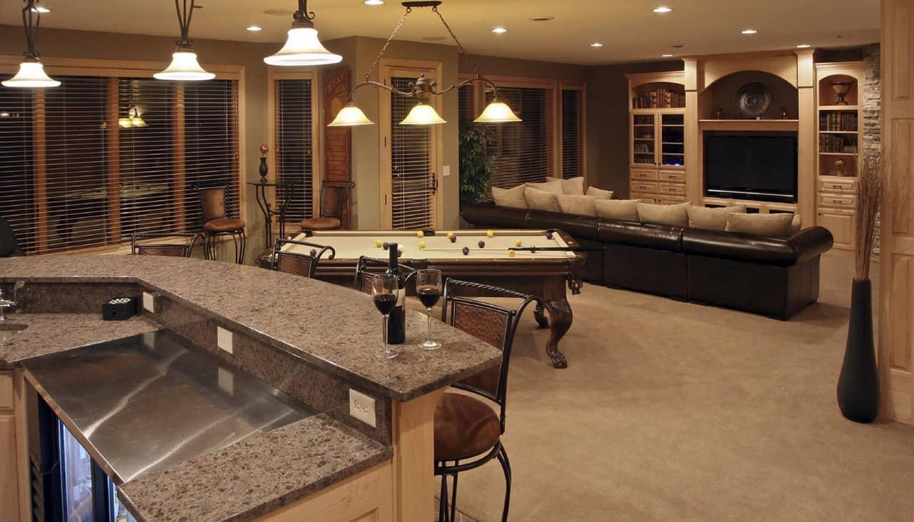 luxury basement
