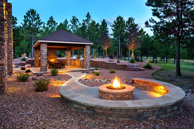 luxury home backyard