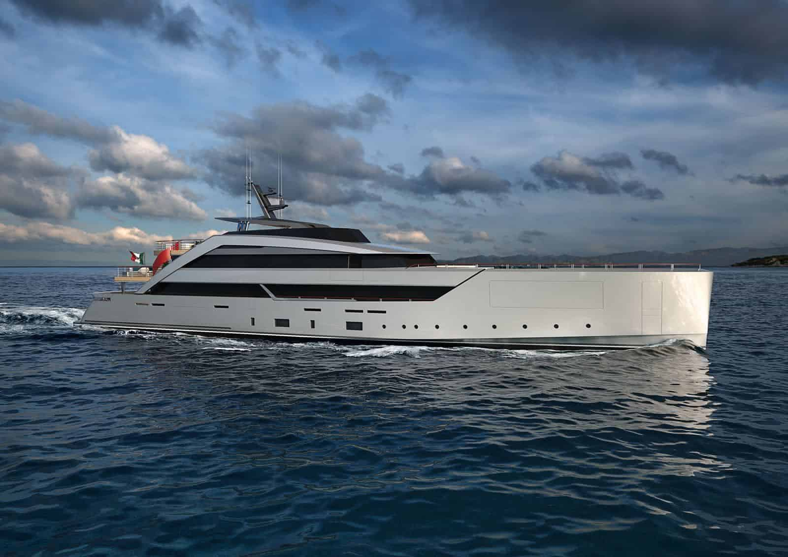 Luca Vallebona unveils a Spectacular 62m Yacht Concept called GRAVITY