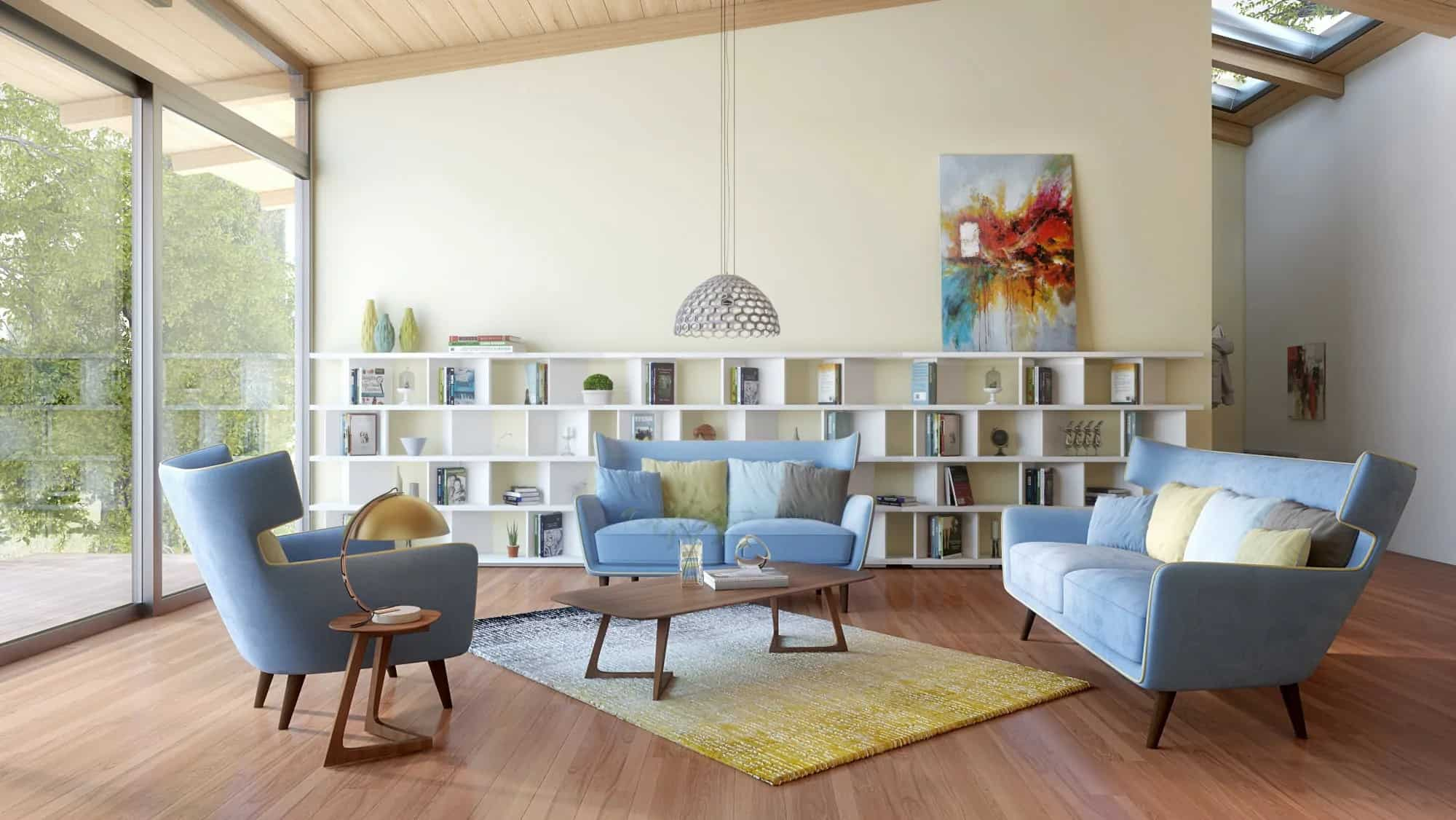 Mid-Century Modern Living Room 4