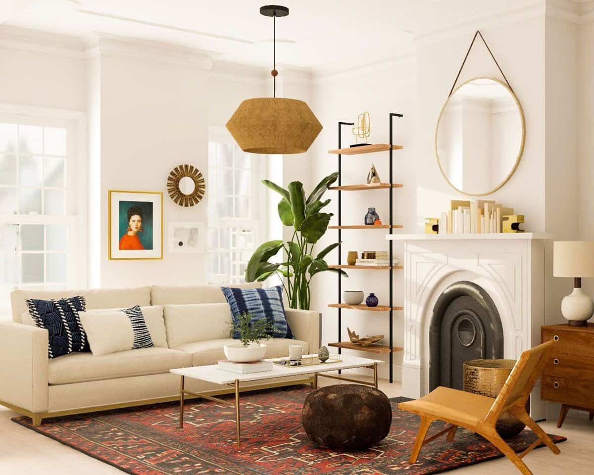6 Mid-Century Modern Living Room Design Tips For A Stylish ...