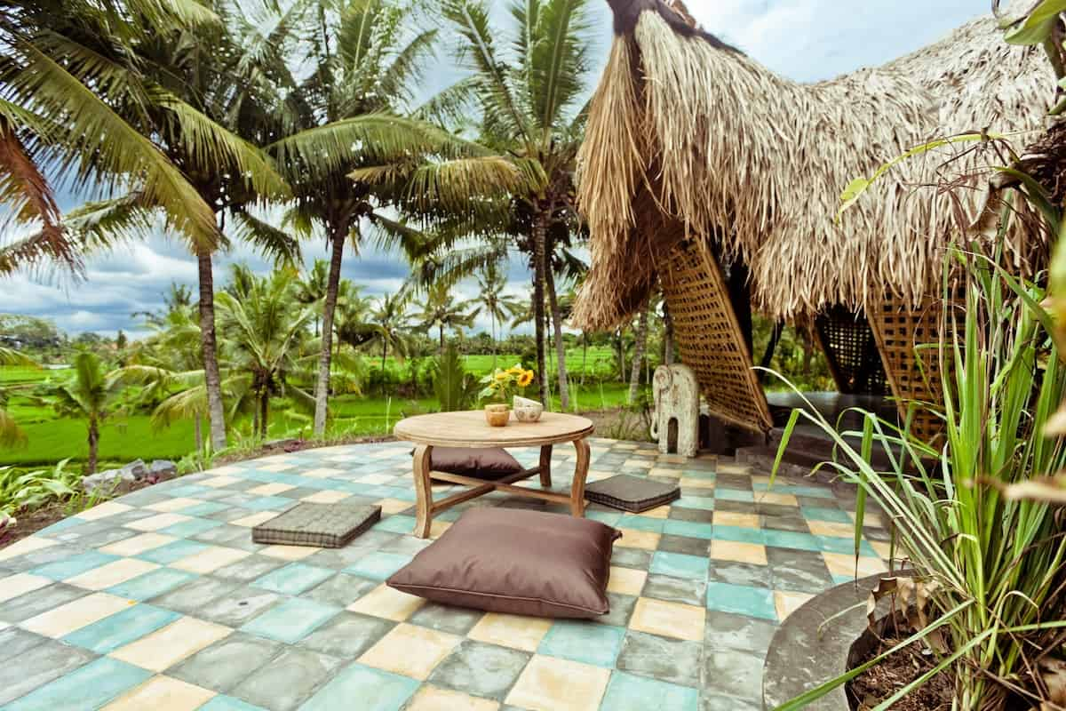 Bamboo Eco-cottage in Rice Fields Ubud 1