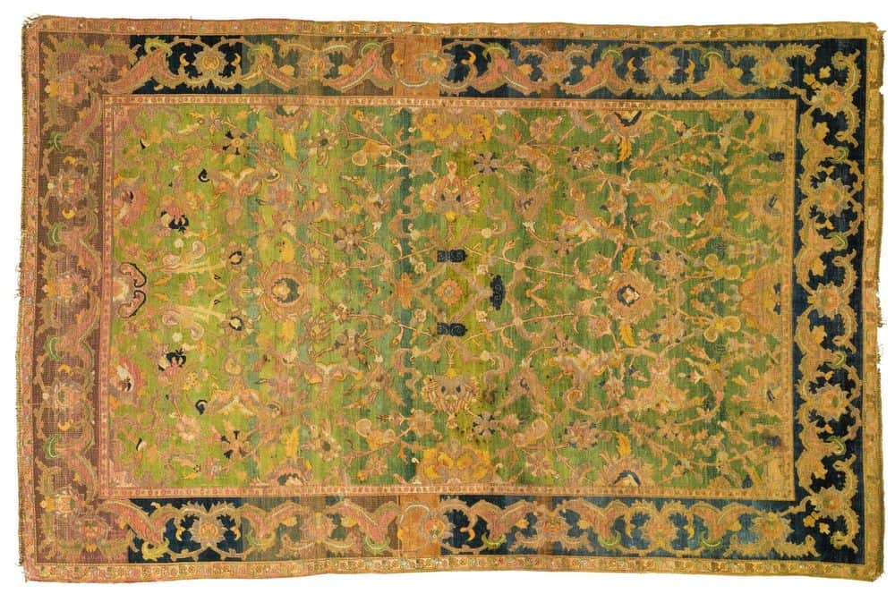 Polonaise Silk and Metal-Thread rug