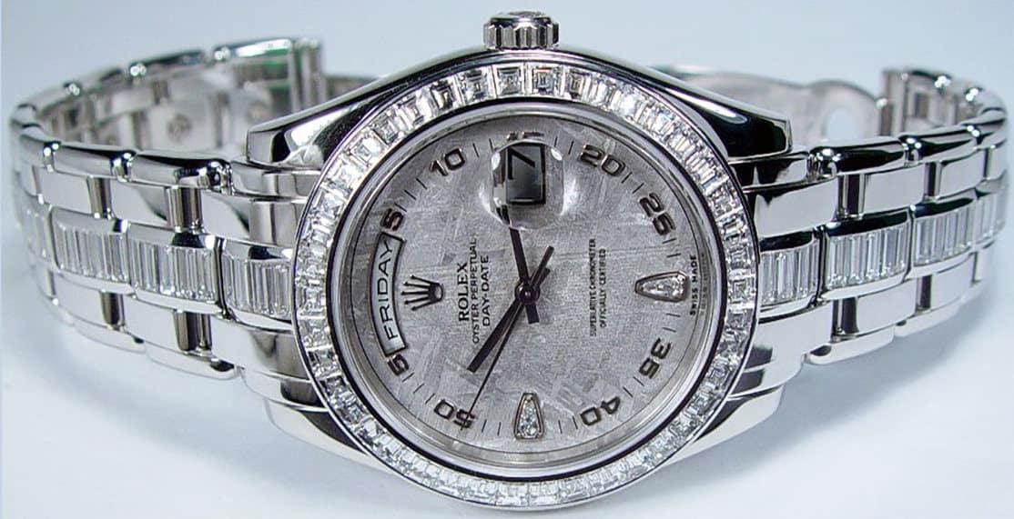 Rolex Platinum Diamond Pearl master