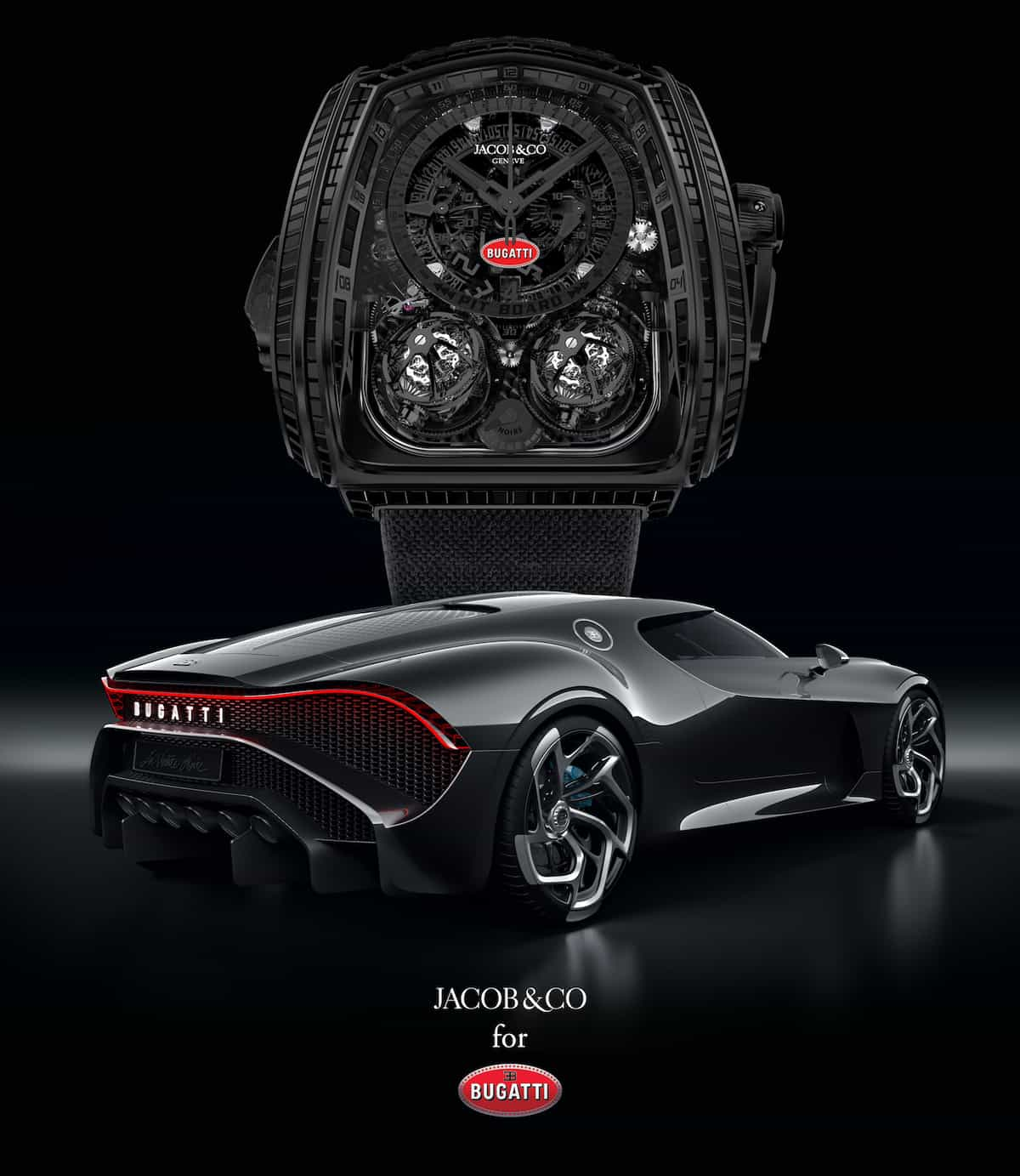Jacob & Co. Twin Turbo Furious Bugatti La Montre Noire 2