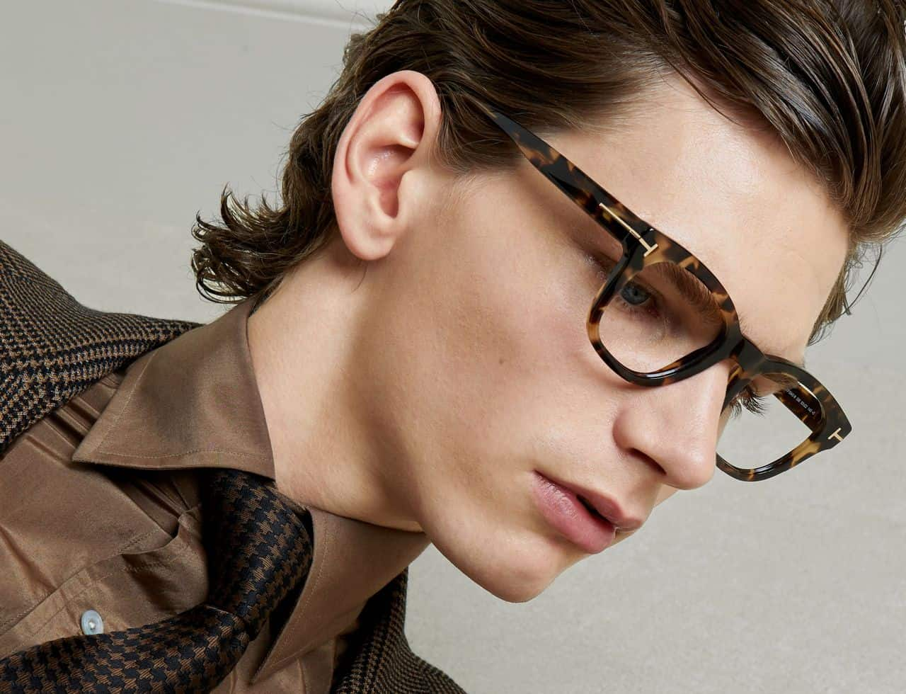 Blue-Block Square Glasses by Tom Ford