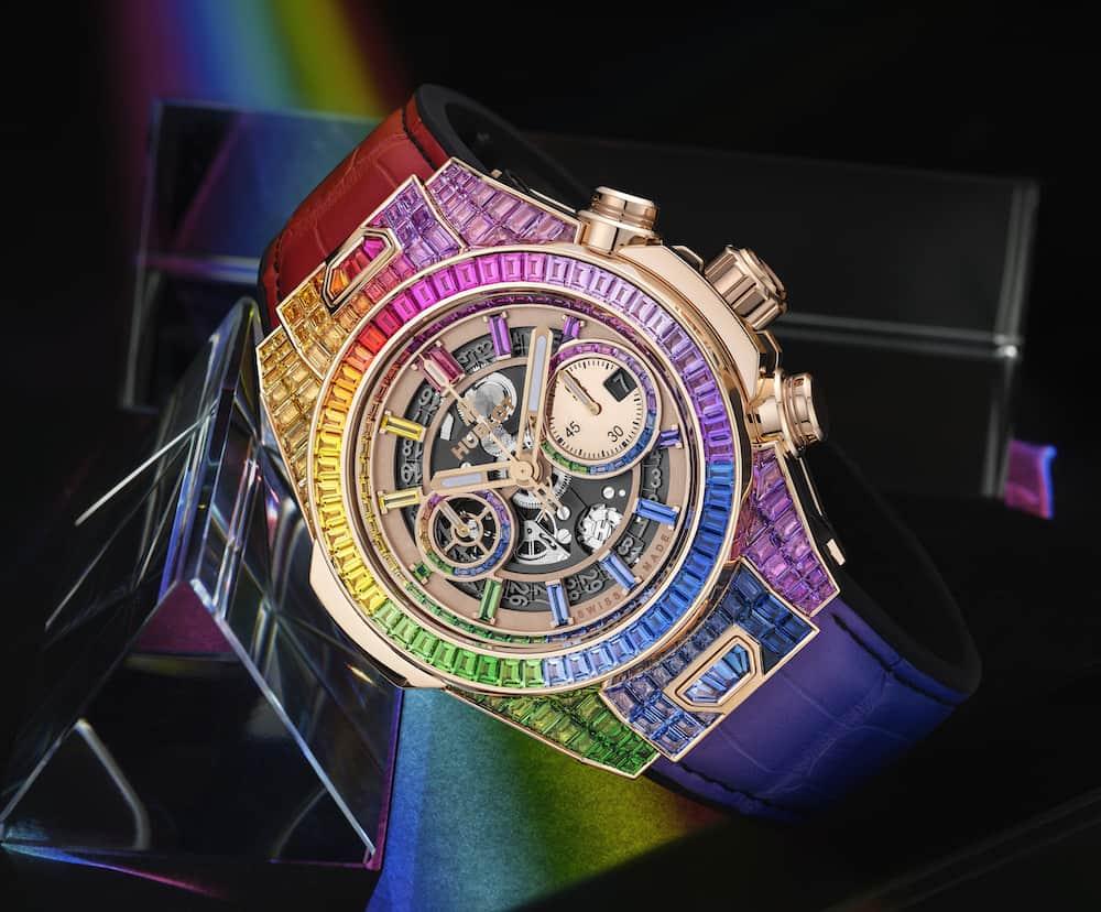 Hublot Big Bang Unico Full Baguette King Gold Rainbow 1