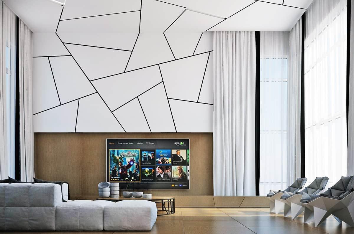 Luxury Living Room Wall Pattern