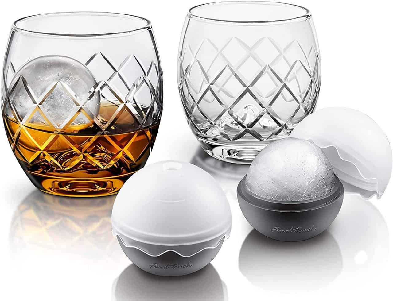 Product Specialties Inc. Final Touch Rock Glass with Ice Ball Mould