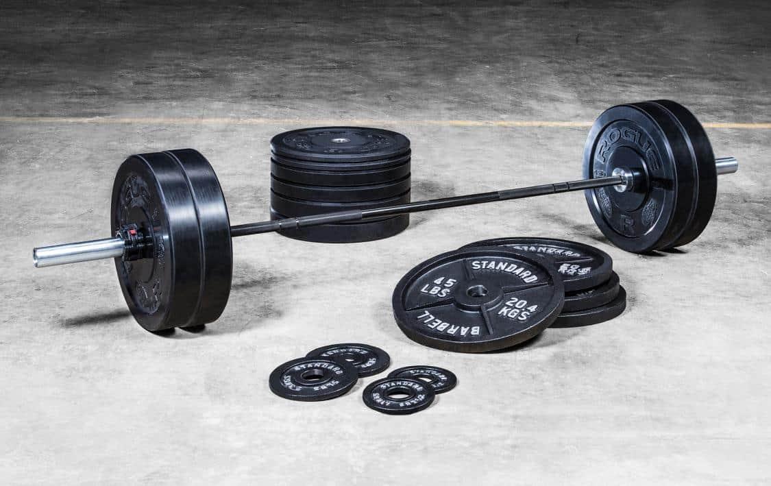 Rogue Fitness Warrior Bar & Bumper Plate Set