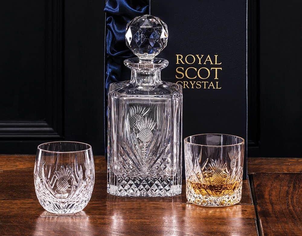 Royal Scot Crystal Scottish Thistle Set