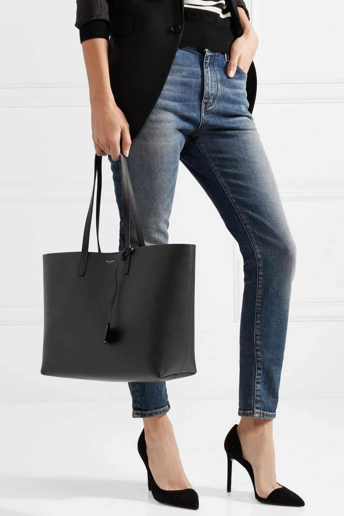 Yves Saint Laurent Leather Shopping Bag