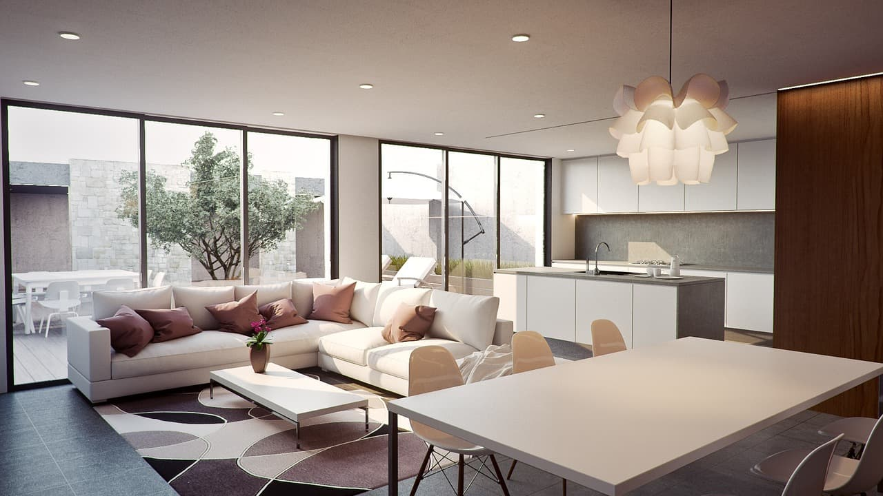luxury vacation rental interior