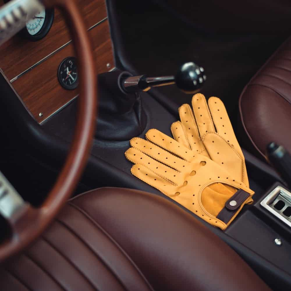 Cafe Leather Triton Driving Gloves