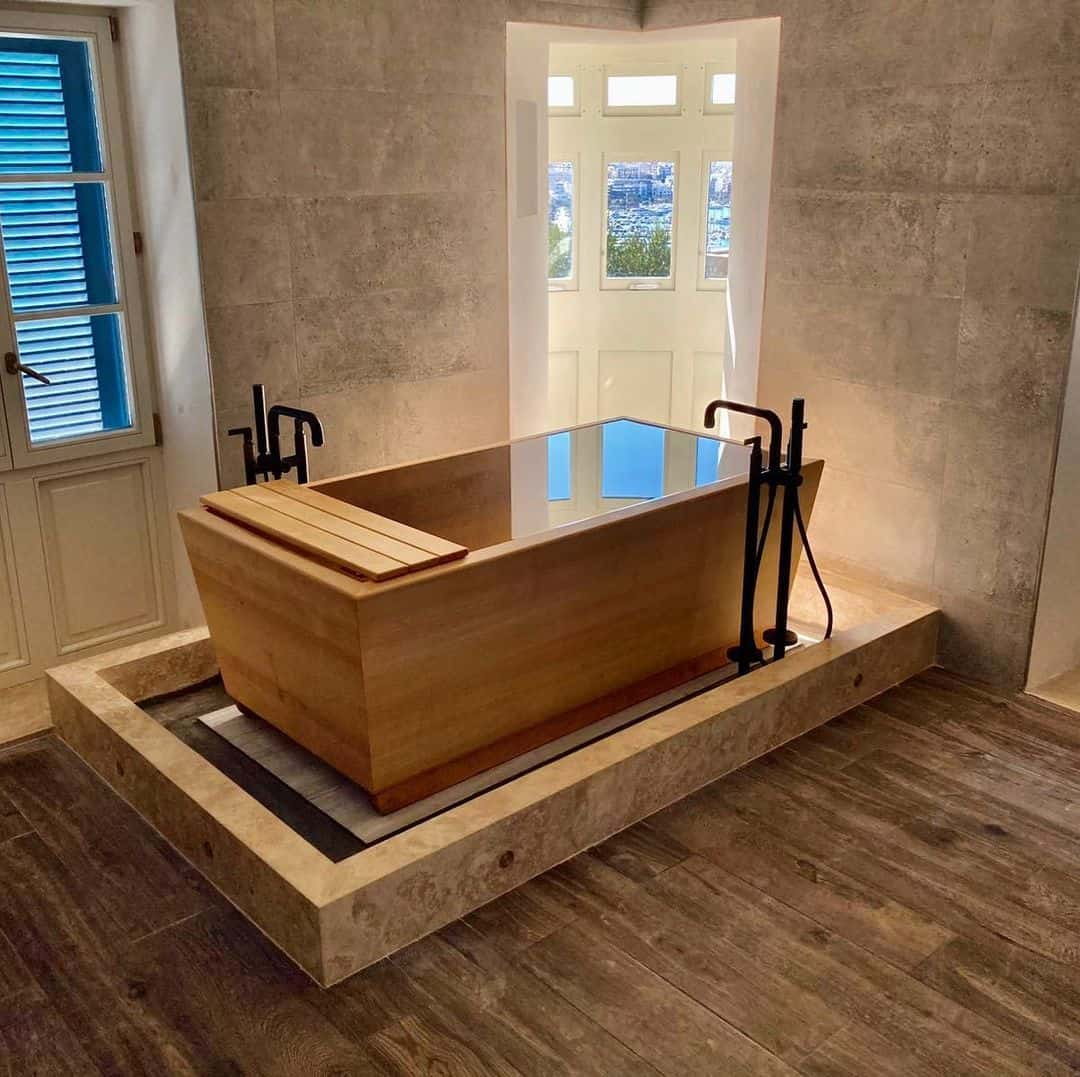 Custom Made Wooden Tub