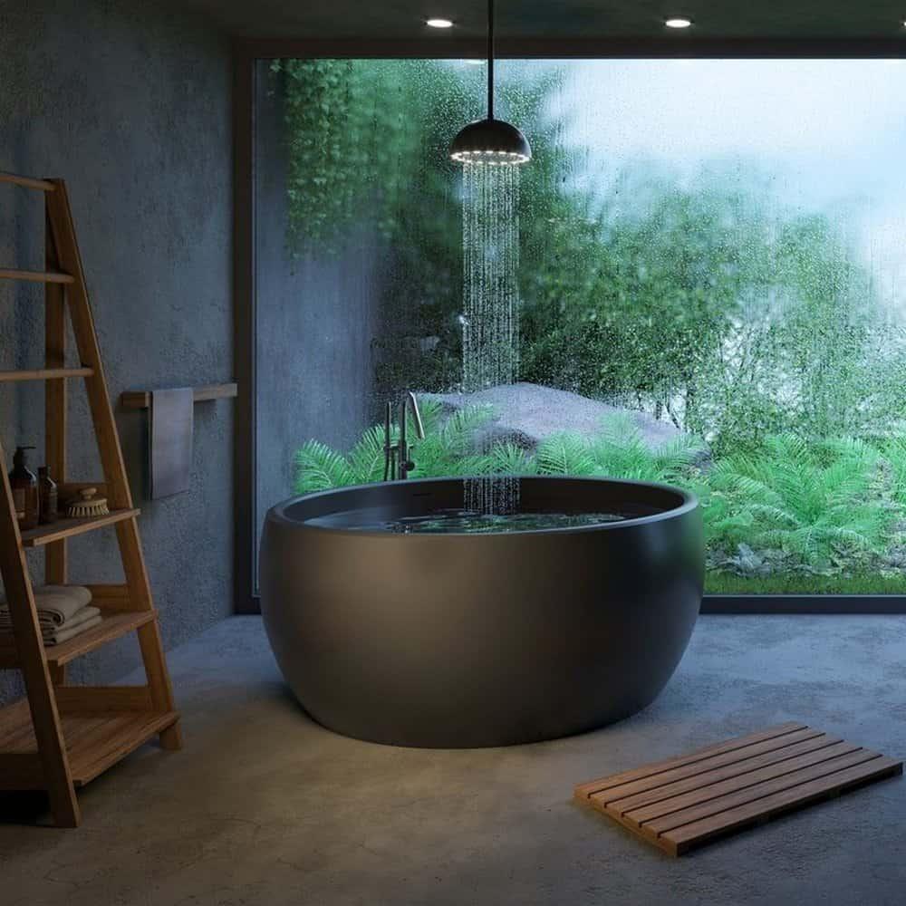 Metal Round Freestanding Tub